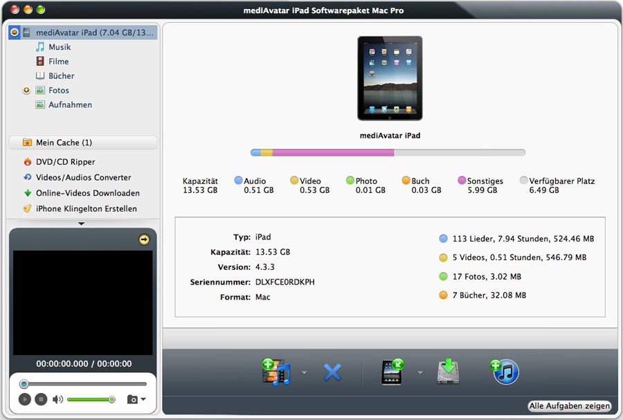 mediAvatar iPad Softwarepaket Pro Mac