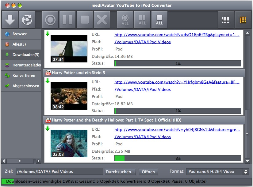 mediAvatar YouTube to iPod Converter Mac