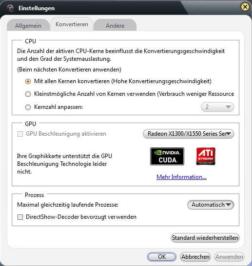 Video Converter für Handy