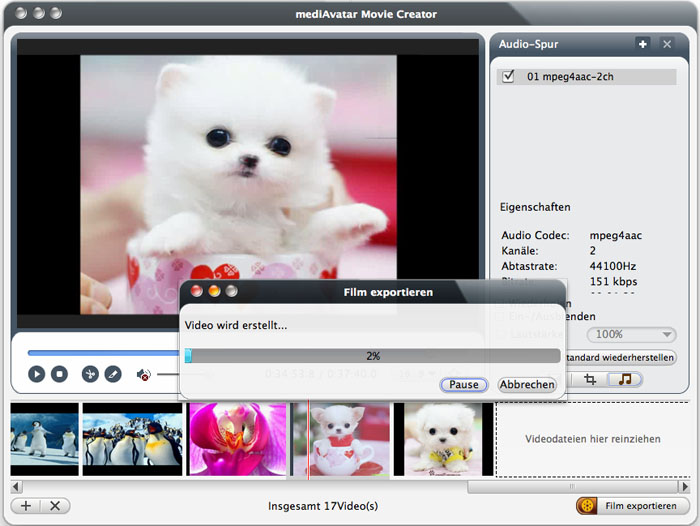 videos bearbeiten mac, movie maker mac